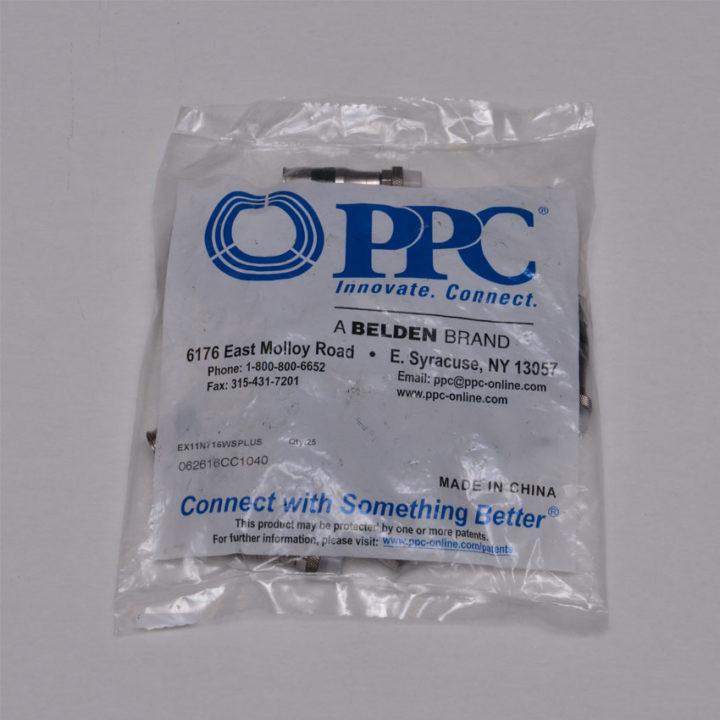 PPC EX11N716WS RG11 Compression Connectors Coaxial