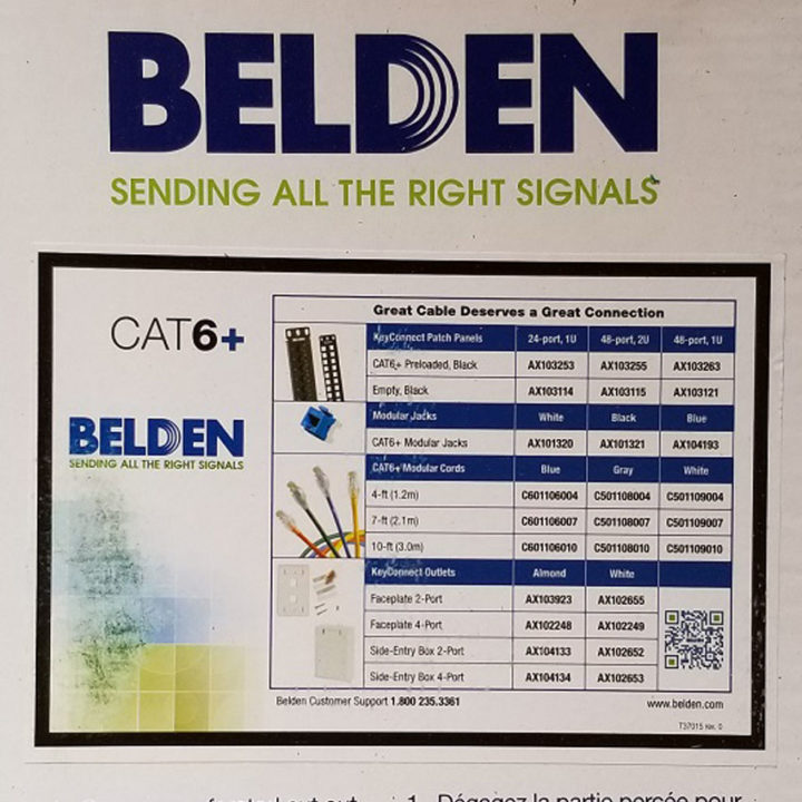 Belden 2412 006U1000 BLUE 23AWG Cat6 Network Cable