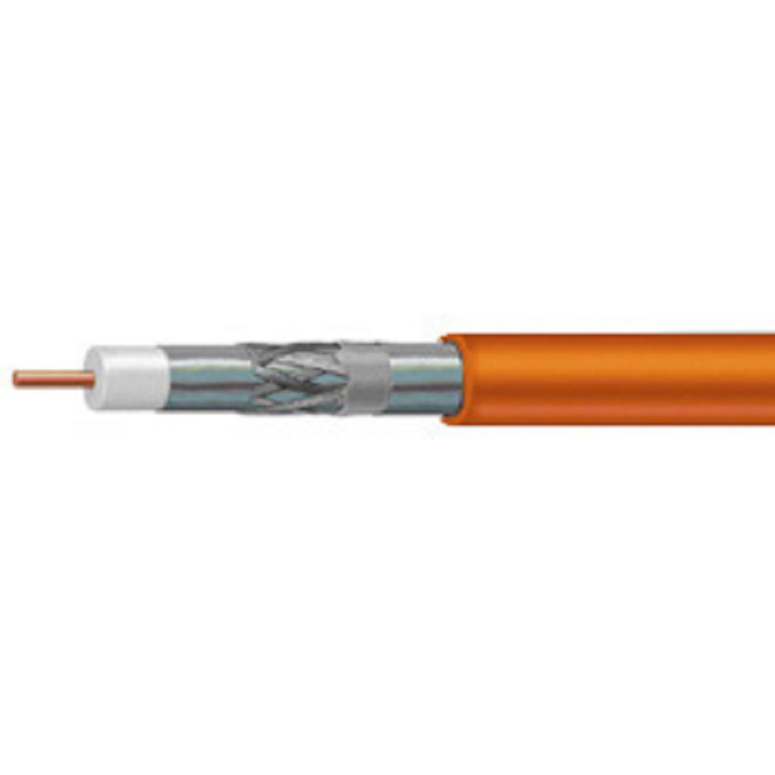 CommScope RG6 F677TSEF XP Tri-Shield Orange Flooded Coaxial Cable 1000FT