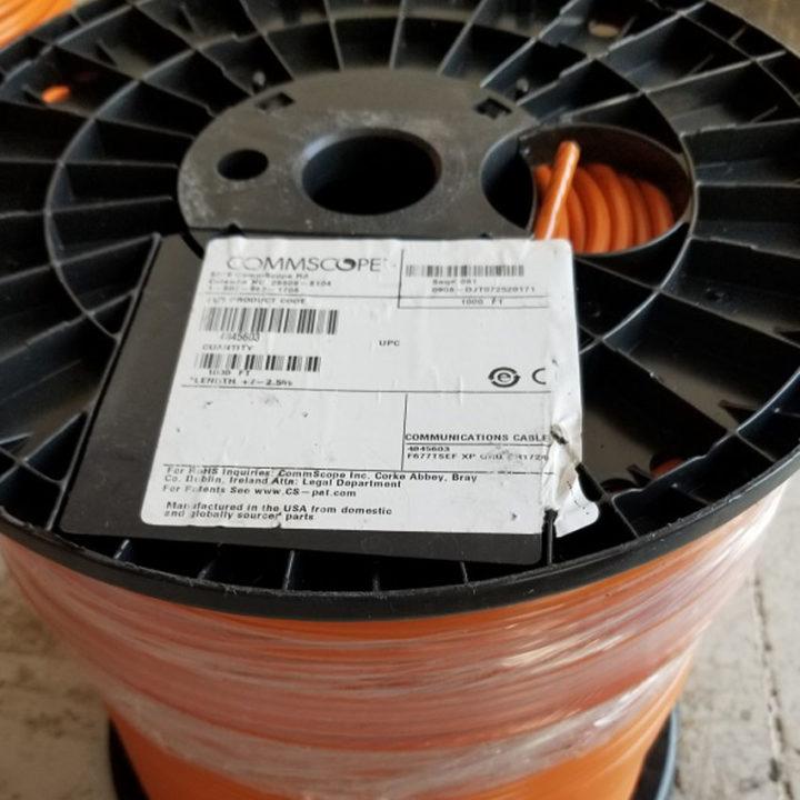 Commscope RG6 F677TSEF XP Tri-Shield Orange Flooded Coaxial Cable 1,000FT