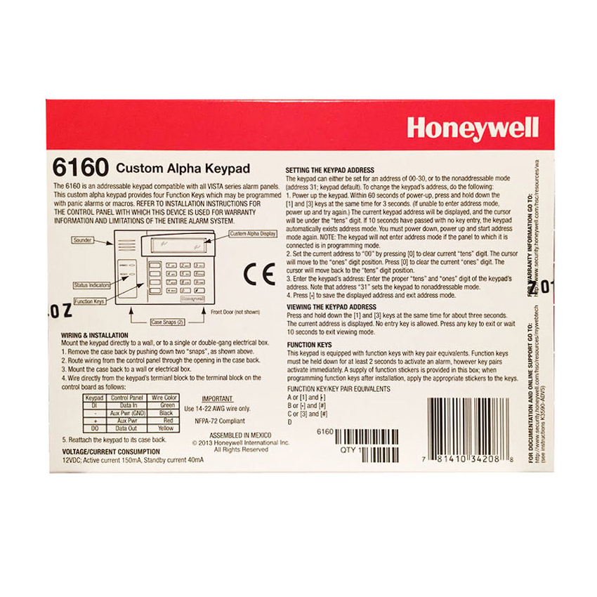 how to add a zone to a honeywell 6160