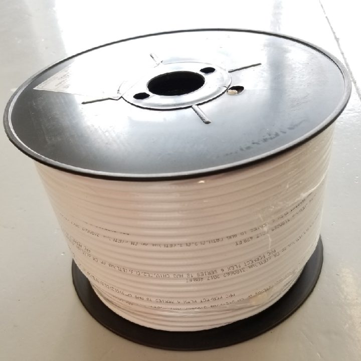 PPC RG6 P6ET77VVWLF White Coaxial Cable